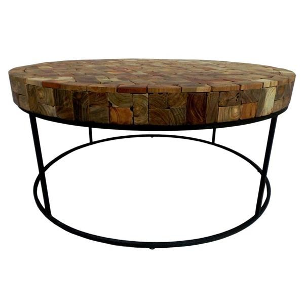 Round Coffee Table With Storage Singapore: AGAR ROUND COFFEE TABLE 80