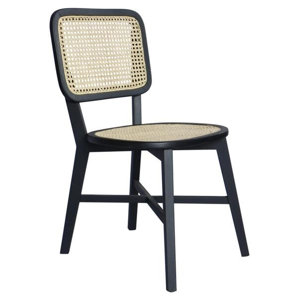 DOLLY CANE CHAIR WITH SQUARE BACKREST