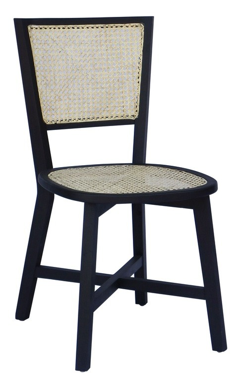 POLLY CANE SQUARE DINING CHAIR