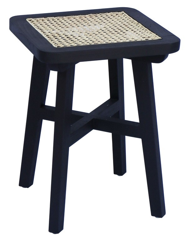 DOLLY CANE SQUARE STOOL