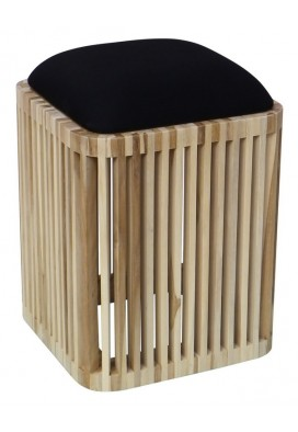 BUMMY SQUARE STOOL WITH CUSHION