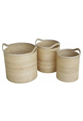 HILLIS ROUND STACKING BASKETS SET OF 3